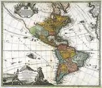 Totius Americae septentrionalis et meridionalis novissima repræsentatio