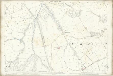 Worcestershire X.5 (includes: Frankley; Hunnington; Romsley) - 25 Inch Map