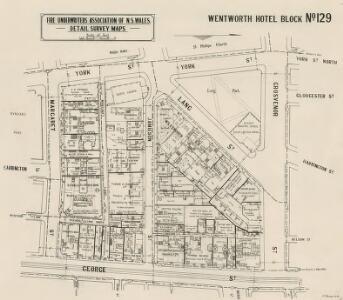 Wentworth Hotel Block No.129, 2.9.24 (b&w)