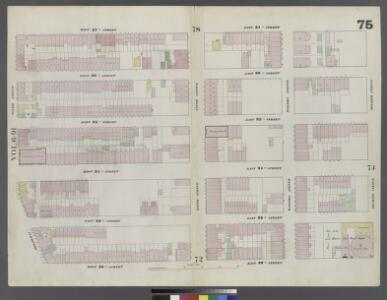 Plate 75: Map bounded by West 37th Street, East 37th Street, Fourth Avenue, East 32nd Street, West 32nd Street, Sixth Avenue
