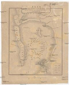Plan of the position of the allied squadrons and turkisch fleet in the action of the 20th Octr. 1827 at Navarino