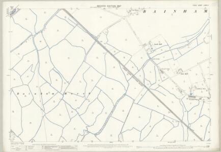 Essex (1st Ed/Rev 1862-96) LXXXII.4 (includes: Rainham; Wennington) - 25 Inch Map