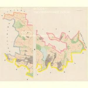 Sliwonitz (Sliwonic) - c7043-1-001 - Kaiserpflichtexemplar der Landkarten des stabilen Katasters