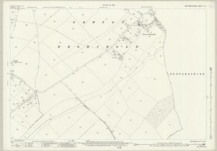 Northamptonshire XL.15 (includes: Knotting and Souldrop; Melchbourne and Yelden; Newton Bromswold; Rushden) - 25 Inch Map