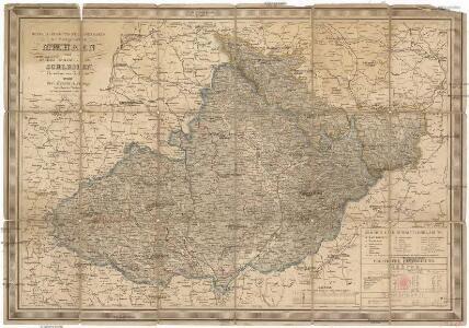 General-Post-und Strassenkarte der Markgrafschaft Maehren und des Herzogthums Schlesien