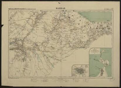 Carte de la côte française des Somalis et régions avoisinantes. Harrar