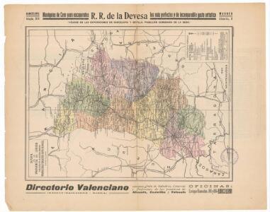 Mapa de la provincia de Lérida