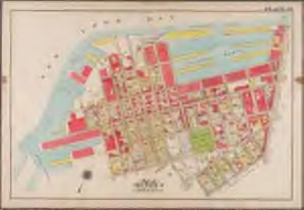 Plate 30:[Bounded by (New York Bay Piers) Ferris Street, Pioneer Street, (Atlantic Basin) Imlay Street, Hamilton Avenue, Hicks Street, Centre Street, Columbia Street, Bush Street, Otswego Street, Wolcott Street, Dwight Street, Beard Street, (Erie Basin) Van Brunt Street, Reid Street and Van Dyke Street.]; Atlas of the borough of Brooklyn, city of New York: from actual surveys and official plans by George W. and Walter S. Bromley.