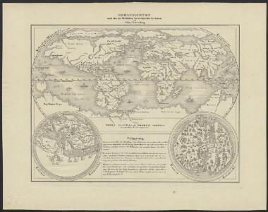[Historisch-geographischer Atlas zu den allgemeinen Geschichtswerken von C. v. Rotteck, Pölitz u. Becker] : Erdansichten nach den im Mittelalter herrschenden Systemen
