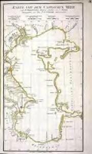 Karte von dem Caspischen Meer