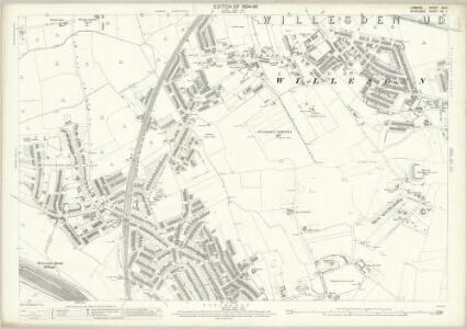 London (Edition of 1894-96) XXXV (includes: Willesden) - 25 Inch Map