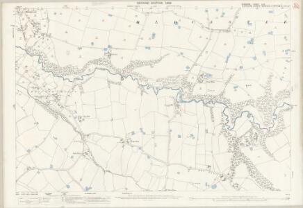 Cheshire LXIV.1 (includes: Is Coed; Oldcastle; Threapwood; Tybroughton; Willington; Worthenbury) - 25 Inch Map