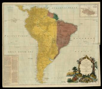 A map of South America containing Tierra-Firma, Guayana, New Granada, Amazonia, Brasil, Peru, Paraguay, Chaco, Tucuman, Chili and Patagonia / from Mr. D'Anville with several improvements and additions and the newest discoveries