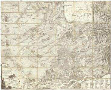 Carte topohydrographique de la ville de Vienne et des ses environs