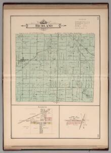 Richland Township, Rush County, Indiana.  Falmouth.  Ging Station.