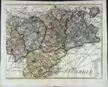 Carte du département du Nord ou les provinces de Flandre du Hainaut et du Cambresis, 2