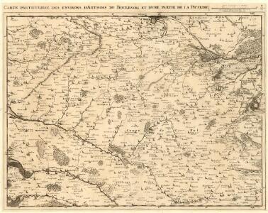 Carte Particuliere des Environs d'Artois du Boulenois et dune partie de la Picardie