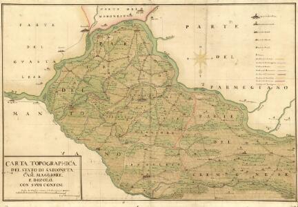 Carta Topographica del Stato di Sabioneta Casal. Maggiore e Bozolo Con Svoi Confini