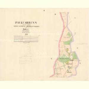 Paulusbrunn - c5672-1-002 - Kaiserpflichtexemplar der Landkarten des stabilen Katasters