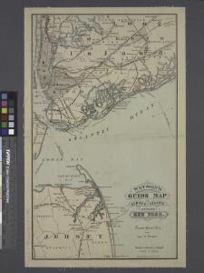Watson's guide map to summer resorts around New York.