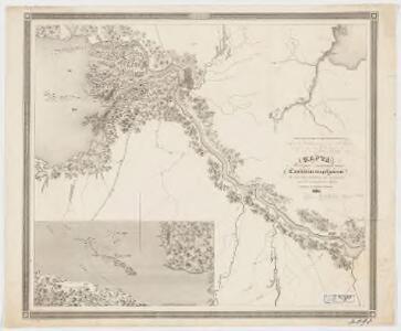 <Karta mesta zanimaemago Sanktpeterburgom : v tom vide v kakom onoe nakhodilos za god do osnovanii͡a goroda; sostavlena dli͡a panoramy S. Peterburga, 1834>