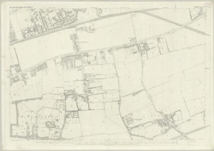 London (First Editions c1850s) XXI (includes: East Ham; West Ham) - 25 Inch Map