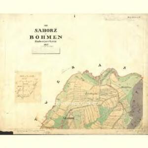 Sahorz - c9054-1-002 - Kaiserpflichtexemplar der Landkarten des stabilen Katasters