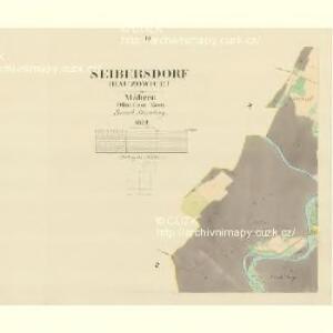 Seibersdorf (Hauzowice) - m0069-1-003 - Kaiserpflichtexemplar der Landkarten des stabilen Katasters