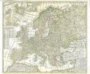 Europæ in tabula geographica delineatio