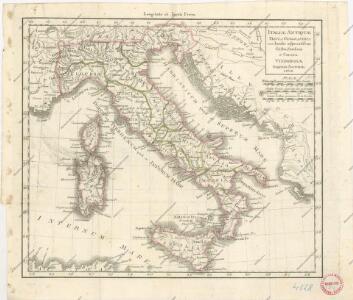 Italiae antiquae tabula geographica cum Insulis adjacentibus