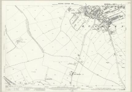 Bedfordshire III.8 (includes: Irchester; Rushden; Wymington) - 25 Inch Map