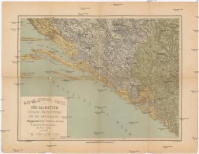 Karte des Operations-Gebietes in Süd-Dalmatien (Crivoscie-Bocche di Cattaro) und der Herzegovina, nebst dem angrenzenden Fürstenthum Montenegro