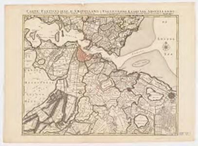 Carte particuliere d'Amstelland ou les environs d'Amsteldam, Muyden, Weesp, Naarden &c = Particuliere Kaart van Amstellandt of het Omleggende van Amsteldam, Muyden, Weesp, Naarden &c