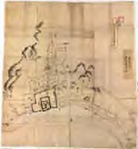 丹後宮津城内外見取絵図