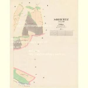 Sobietitz (Sobětic) - c7124-1-002 - Kaiserpflichtexemplar der Landkarten des stabilen Katasters