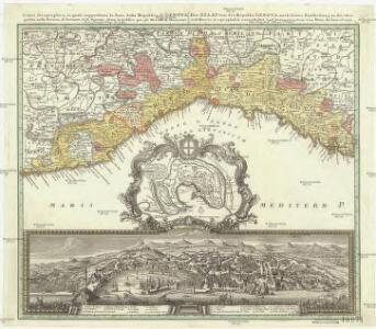 Carta geographica, la quale rappresenta lo stato della republica di Genova, partita nella Riviera di Levante et di Ponente