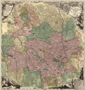 Tabula Geographica Nova exhibens Partem Infra Montanam Burggraviatus Norimbergensis Sive Principatum Onolsbacensem cum Terris Limitaneis Accurate delineatam