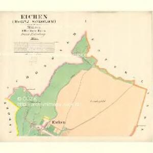 Eichen (Hornj Sokolom) - m0828-1-001 - Kaiserpflichtexemplar der Landkarten des stabilen Katasters