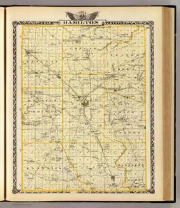 Map of Hamilton County.