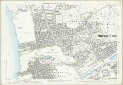 Devon CXXIII.7 (includes: Devonport; East Stonehouse; Plymouth) - 25 Inch Map