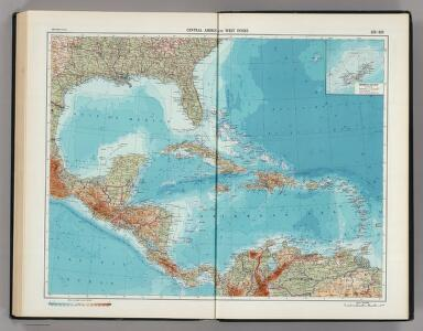 215-216.  Central America and West Indies.    The World Atlas.