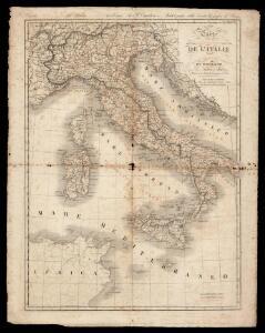 Carte polychrome de l'Italie antique et moderne / par Pierre Tardieu et Audot père