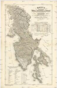 Karte der Kronländer Görz mit Gradisca und Istrien und der reichsunmittelbaren Stadt Triest mit deren politischen und gerichtlichen Eintheilung