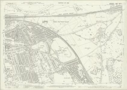 Berkshire XXXVII.4 (includes: Earley; Eye and Dunsden; Reading; Sonning; Woodley and Sandford) - 25 Inch Map