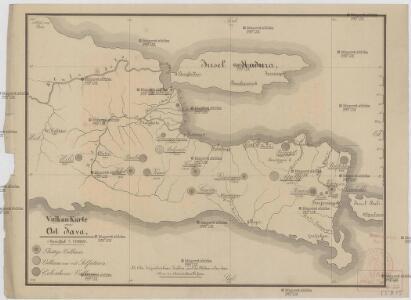 Vulkan Karte von Ost Java