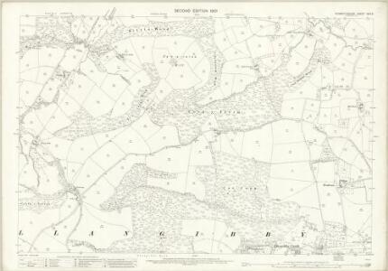 Monmouthshire XXIV.6 (includes: Llanbadog Fawr; Llangybi Fawr) - 25 Inch Map