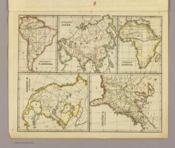 Outline Asia, S. America, etc.
