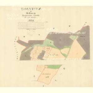 Kojatitz - m1236-1-001 - Kaiserpflichtexemplar der Landkarten des stabilen Katasters