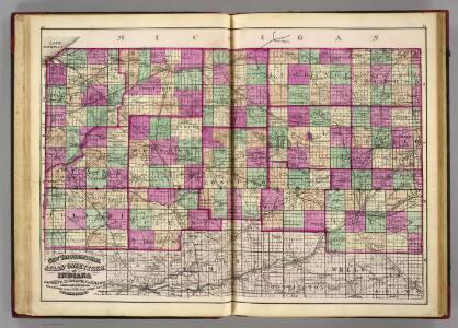 La Porte, St. Joseph, Elkhart, La Grange, Steuben, Stark, Marshall, Kosciusko, Noble, De Kalb, Pulaski, Fulton, Whitley, Allen counties.