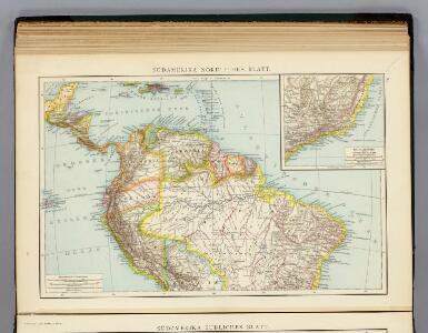 Sudamerika nordliches Blatt.